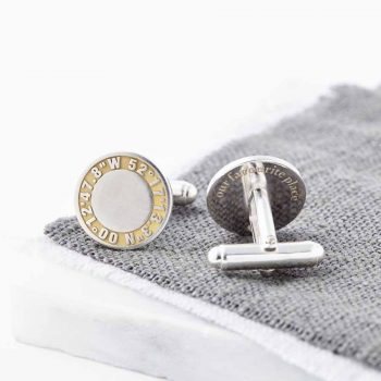 personalised 24ct gold and silver coordinate cufflinks