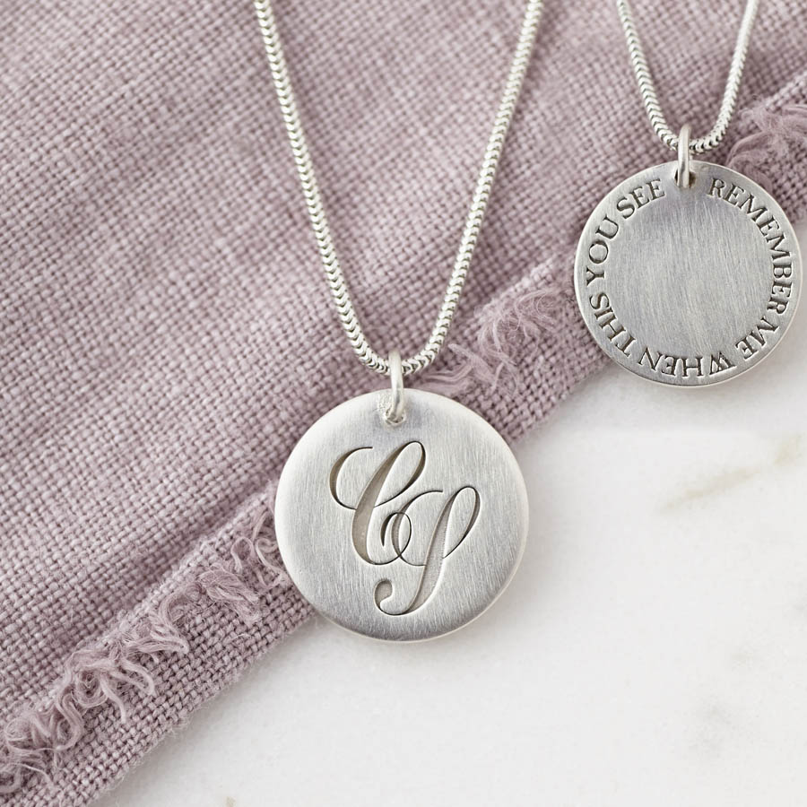 Personalised Silver Monogram Hidden Message Necklace