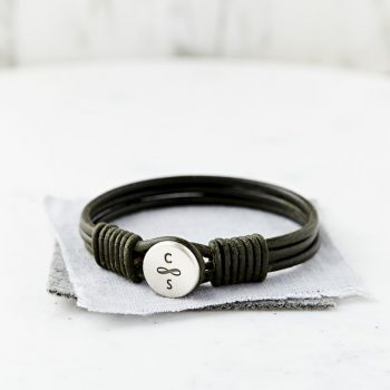Silver And Leather Infinity Bracelet