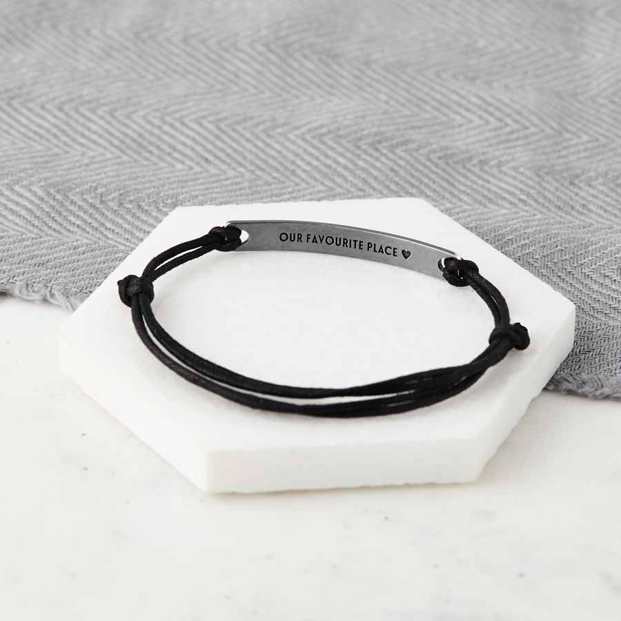eve tie in s addiction and coordinate silver coordinates bar rope black bracelet custom bolo