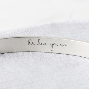 Personalised Silver Handwriting Signature Bangle