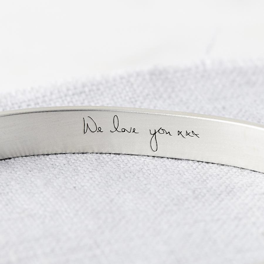 Personalised Silver Handwriting Signature Bangle