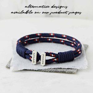 Men'sSilverPersonalised Coordinate Bracelet