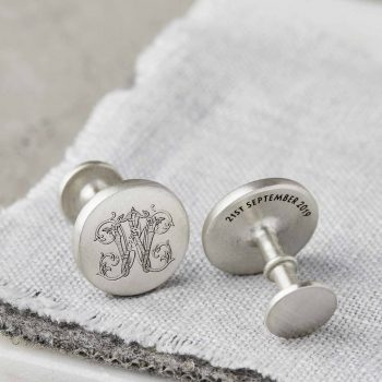 Personalised Sterling Silver Initial Monogram Cufflinks